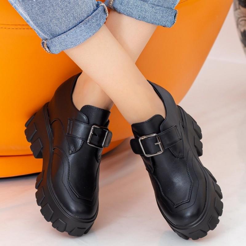 Pantofi Sport Dama cu Platforma SJN330 Black Mei