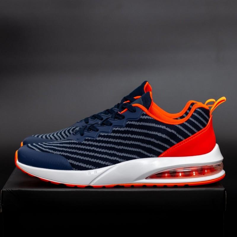 Pantofi Sport Barbati 0579 Navy-Orange Mei