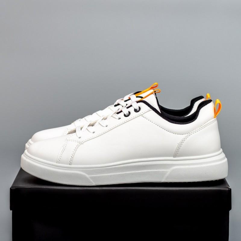 Pantofi Sport Barbati D823 Alb-Portocaliu Se7en