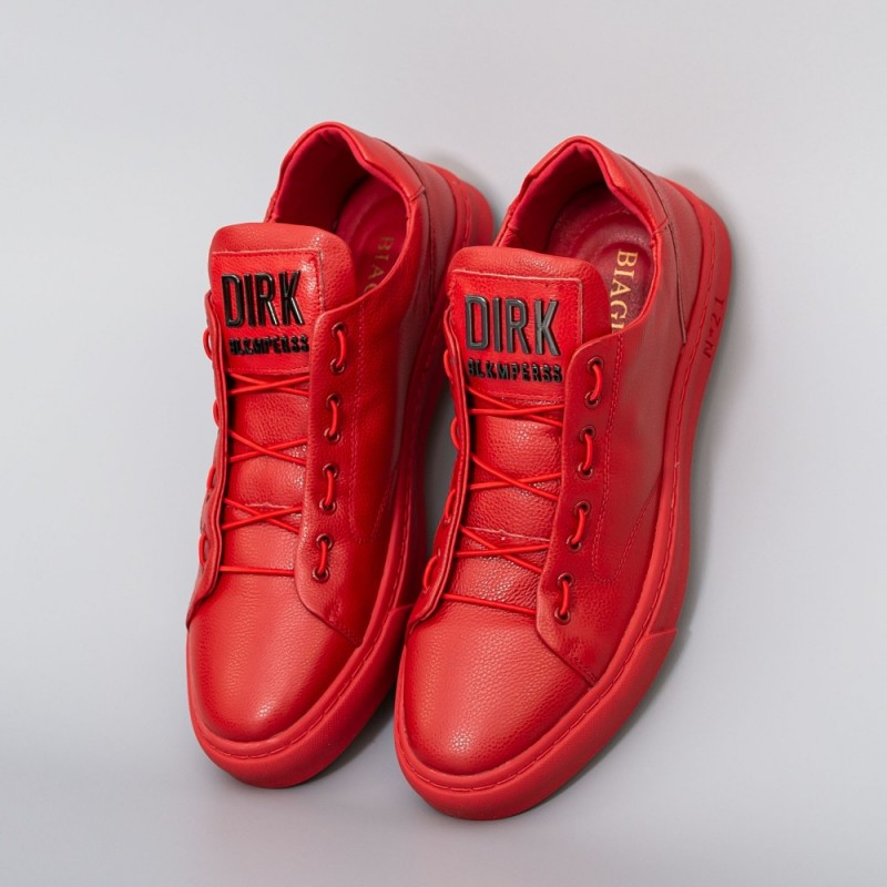 Pantofi Sport Barbati din piele naturala 90985 Rosu Biagio