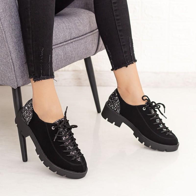 Pantofi Casual Dama DS11A Negru Mei