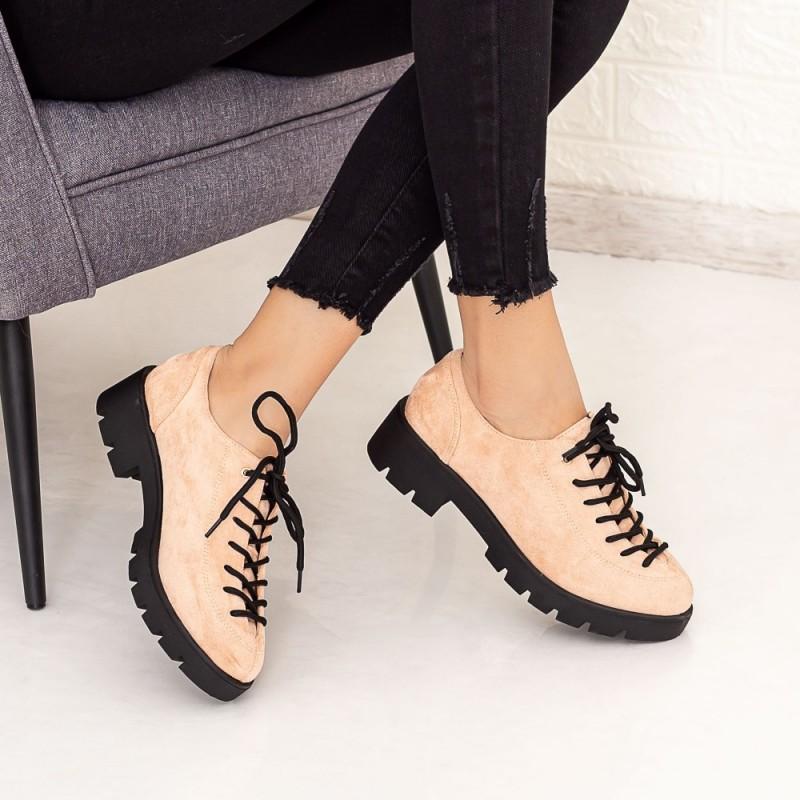 Pantofi Casual Dama DS11A Bej Mei