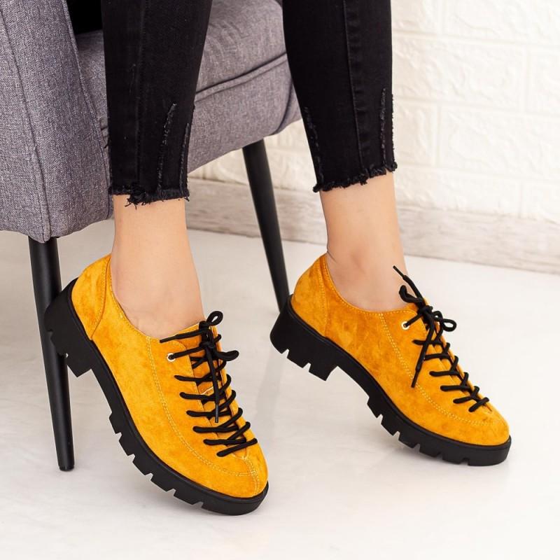 Pantofi Casual Dama DS11A Galben Mei