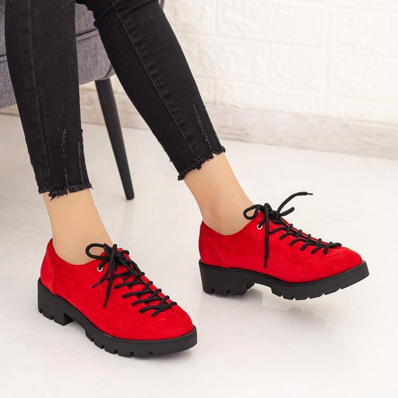 Pantofi Casual Dama DS11A Rosu Mei