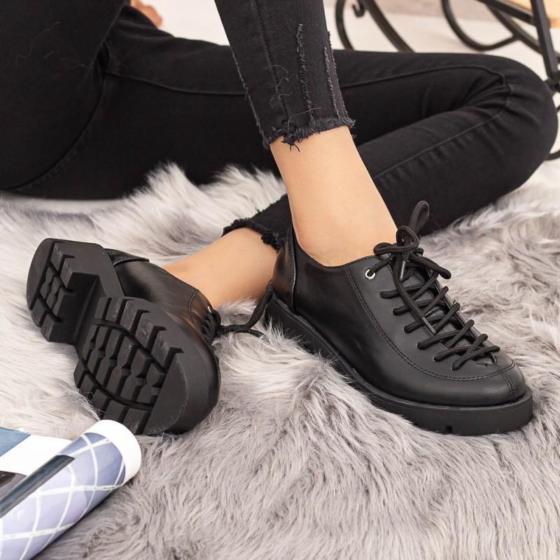 Pantofi Casual Dama DS11 Negru Mei