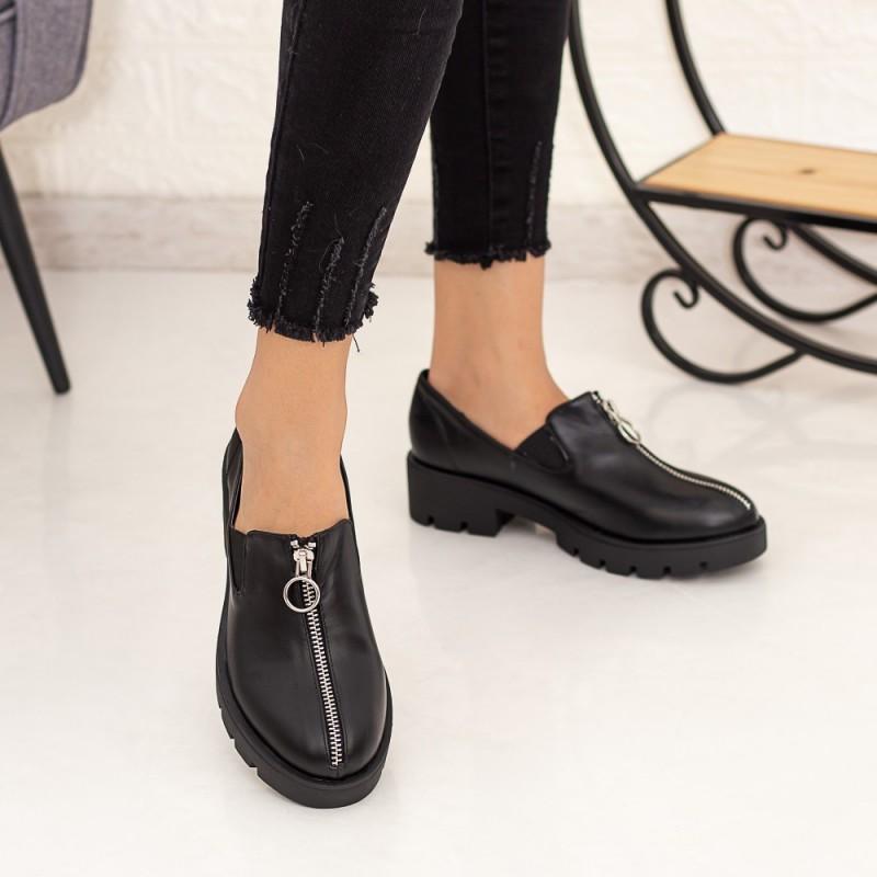 Pantofi Casual Dama DS12 Negru Mei