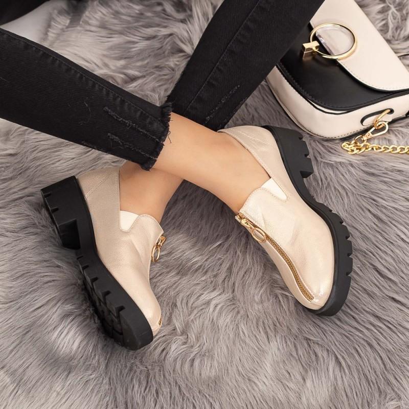Pantofi Casual Dama DS12 Champagne Mei