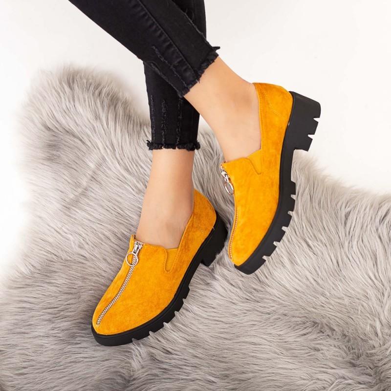 Pantofi Casual Dama DS12A Galben Mei