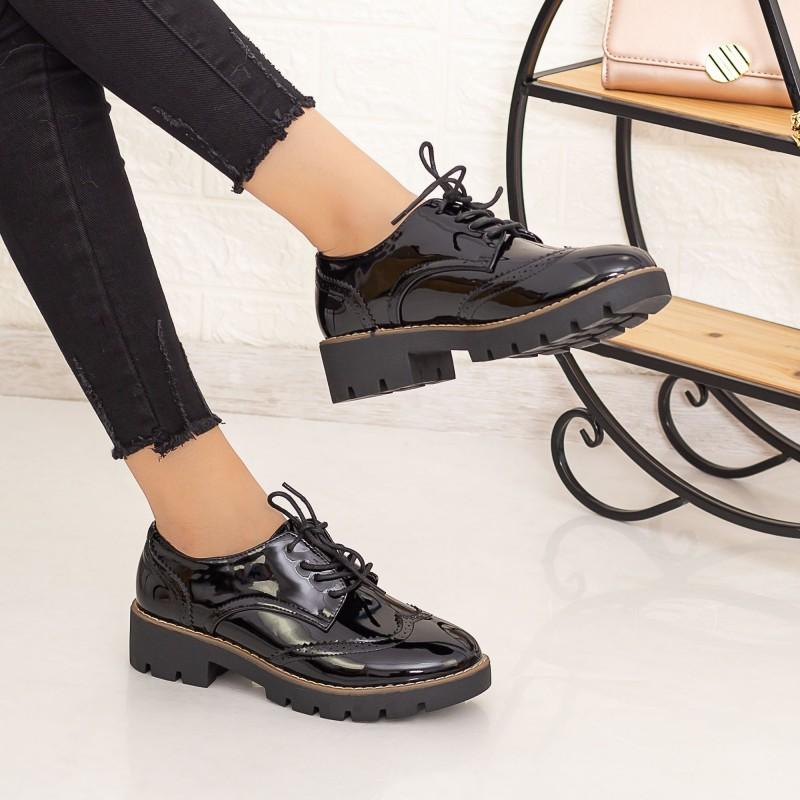 Pantofi Casual Dama DS9 Negru Mei