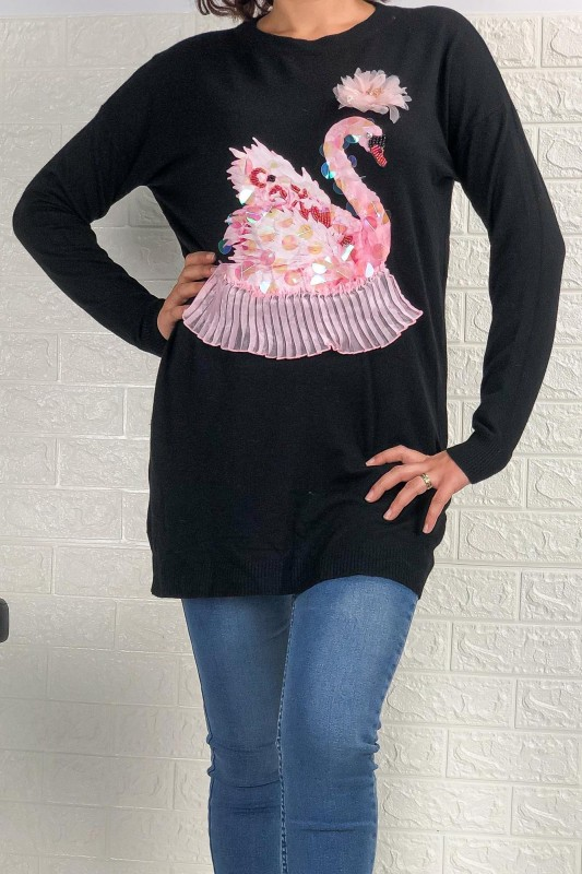 Bluza Dama JD1627 Negru Fashion