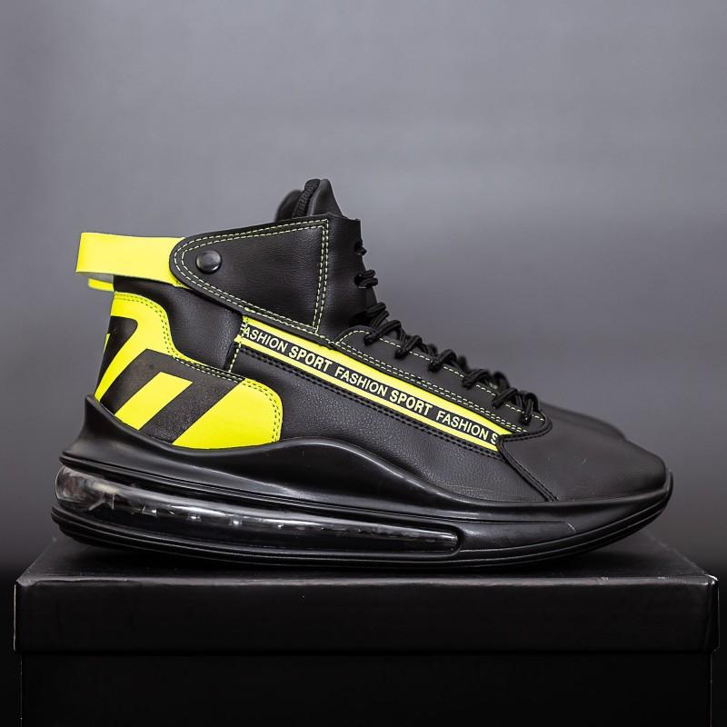 Pantofi Sport Barbati H17 Negru-Galben DCF68