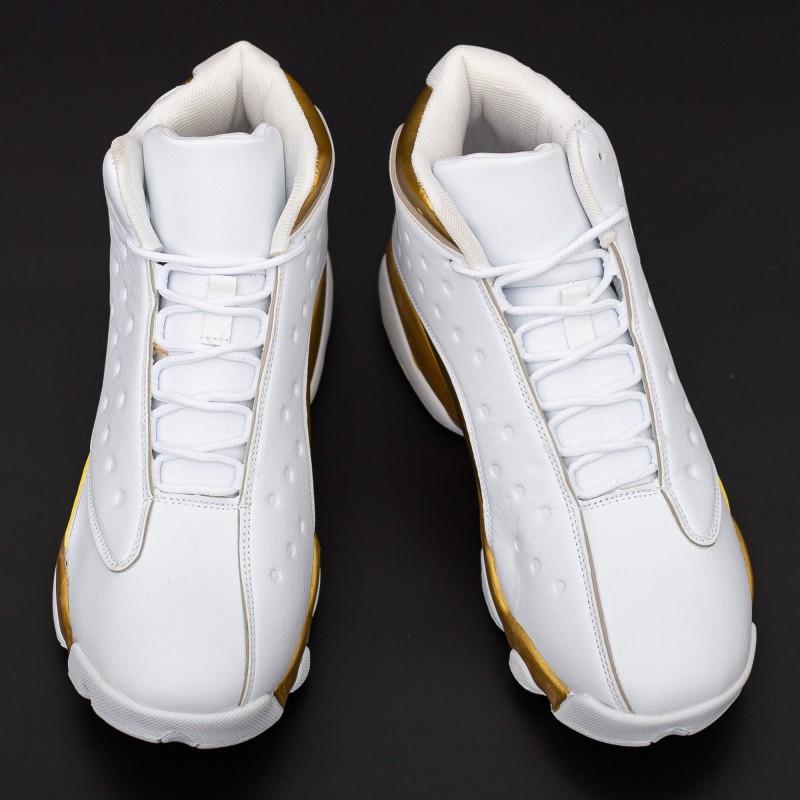 Pantofi Sport Barbati F116 Alb-Auriu Fashion
