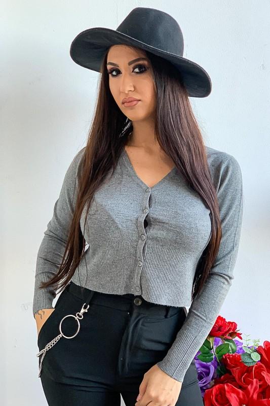 Bluza Dama T7013 Gri Fashion