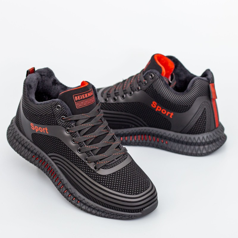 Pantofi Sport Barbati 033 Negru-Rosu Beiernai