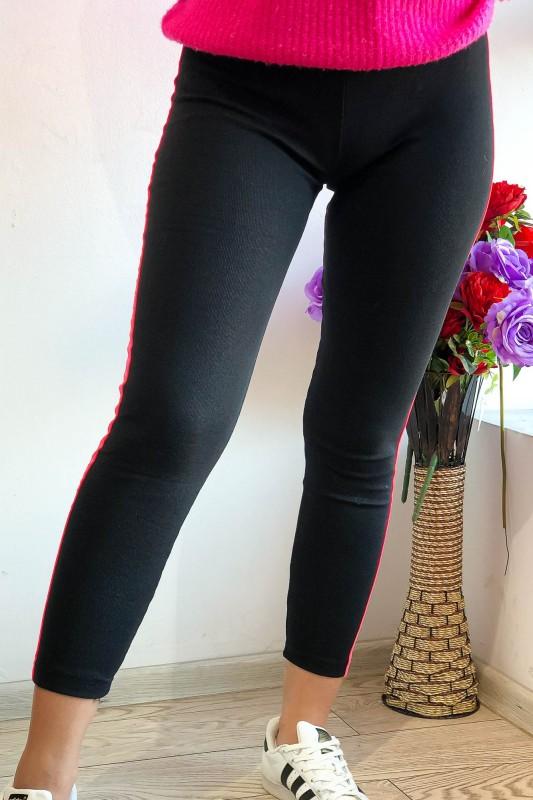 Colanti Dama din bumbac HC26 Negru-Fucsia Fashion