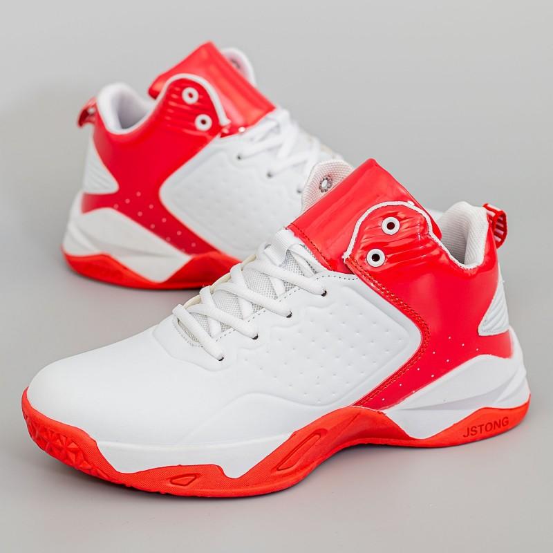 Pantofi Sport Barbati 929-1 Alb-Rosu Mei