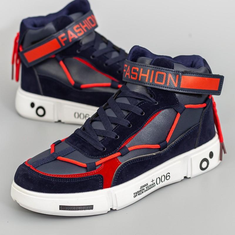 Pantofi Sport Barbati F111 Albastru-Rosu Fashion