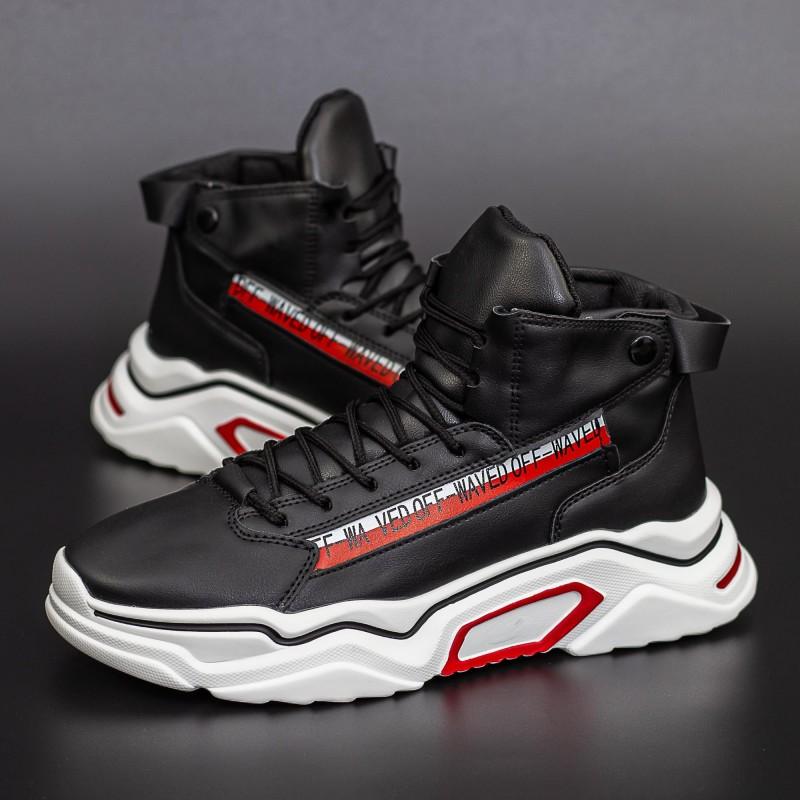 Pantofi Sport Barbati H15-1 Negru-Alb DCF68