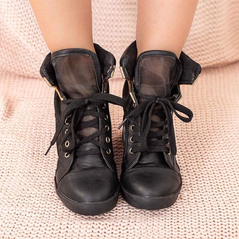 Pantofi Sport Dama cu Platforma ET2 Negru Mei