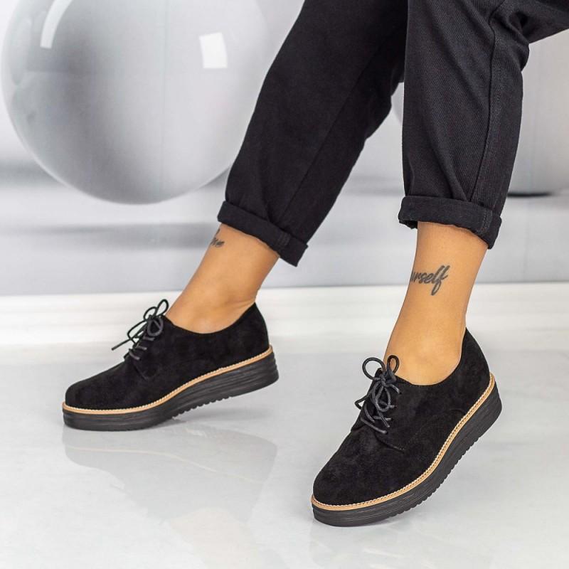 Pantofi Casual Dama DS18 Negru Mei
