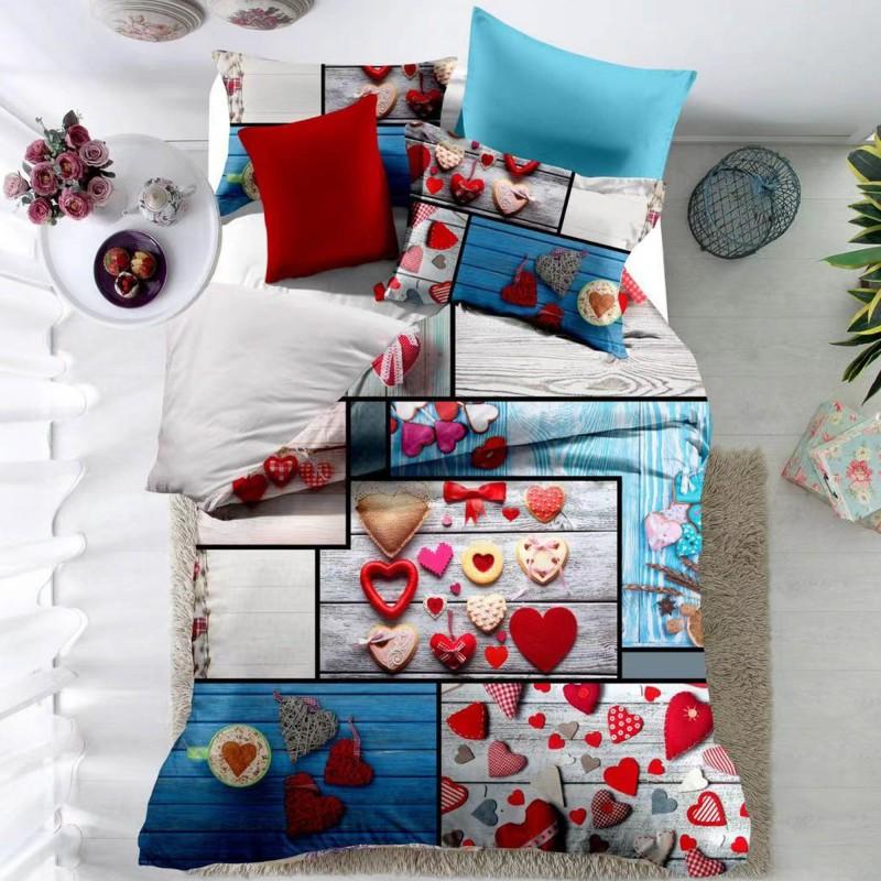 Lenjerie de pat din finet, 6 piese F21 Tip3 Casa de Vis
