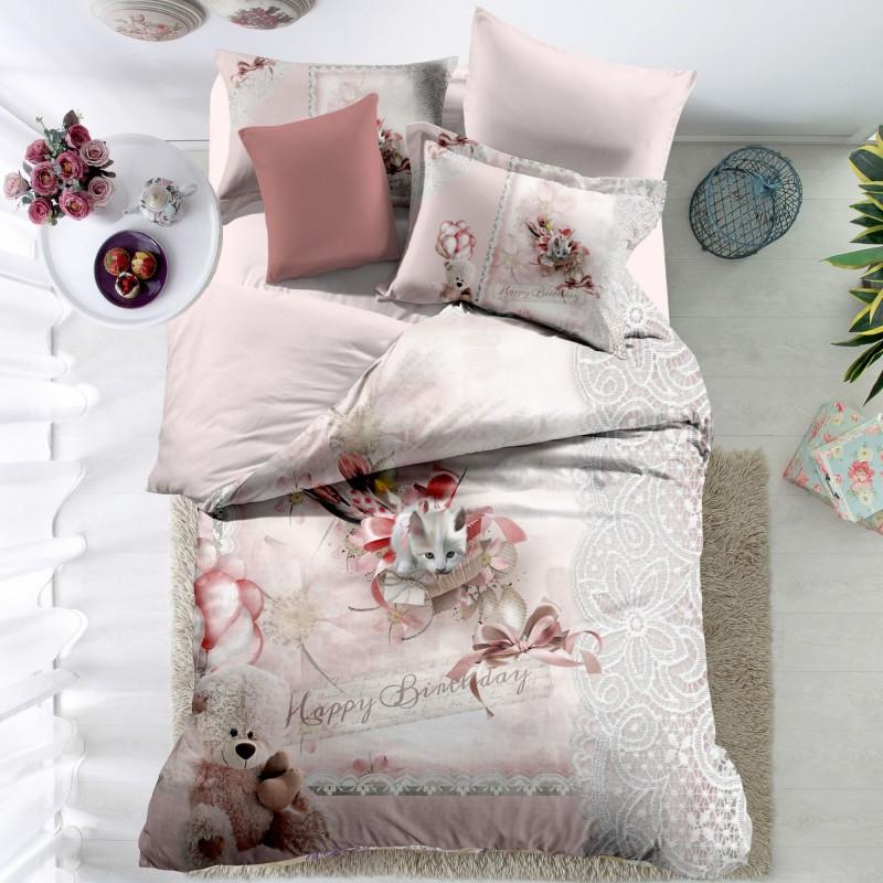 Lenjerie de pat din finet, 6 piese F21 Tip5 Casa de Vis