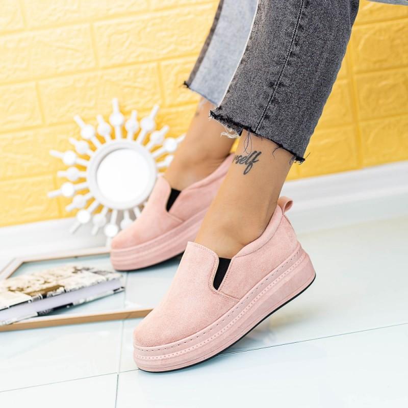 Pantofi Casual Dama HMM39 Roz Mei