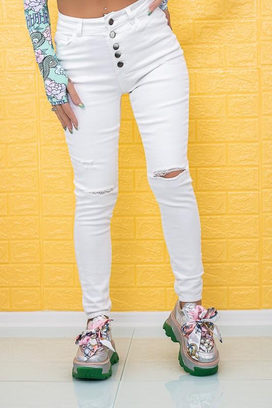 Blugi Dama 208030 Alb Fashion