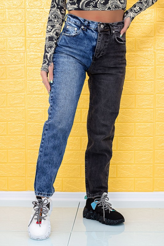 Blugi Dama 752 Albastru-Negru Fashion