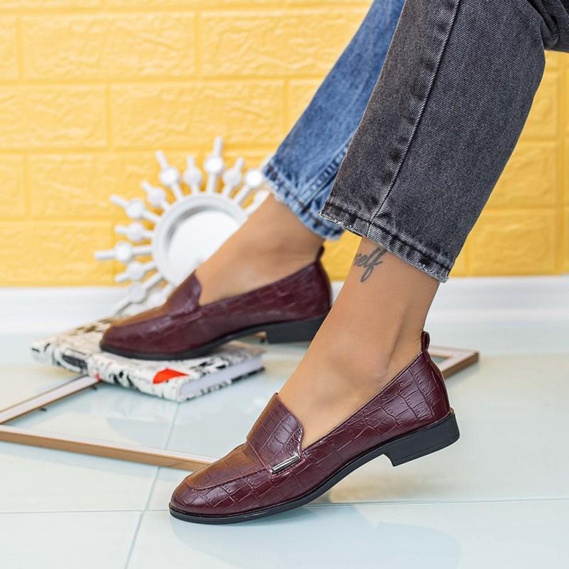Pantofi Casual Dama XMT2 Visiniu Mei