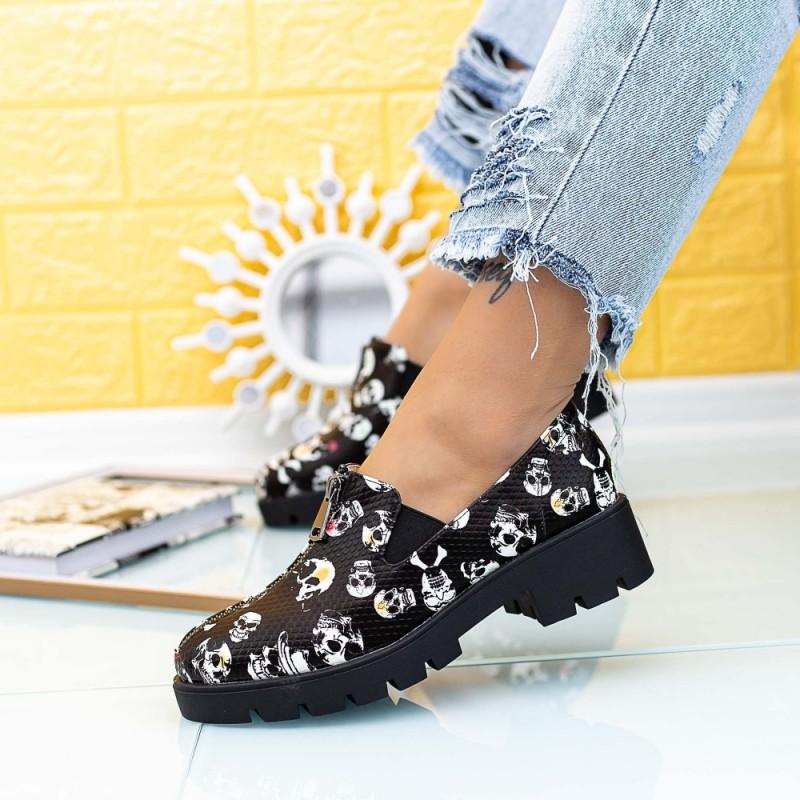 Pantofi Casual Dama DS28 Negru Mei