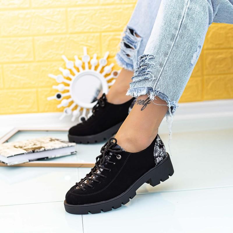 Pantofi Casual Dama DS29 Negru Mei