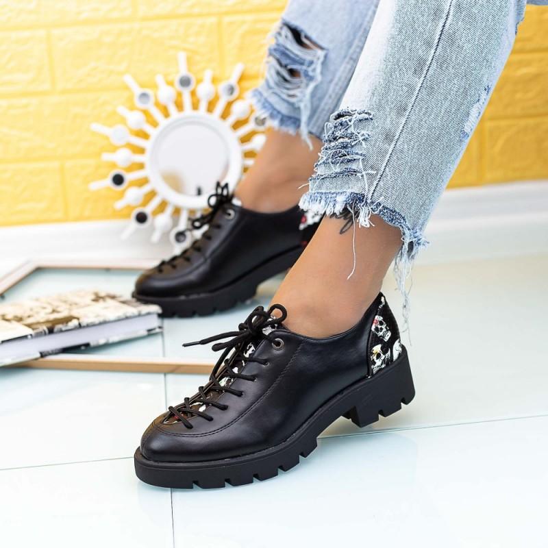 Pantofi Casual Dama DS29B Negru Mei