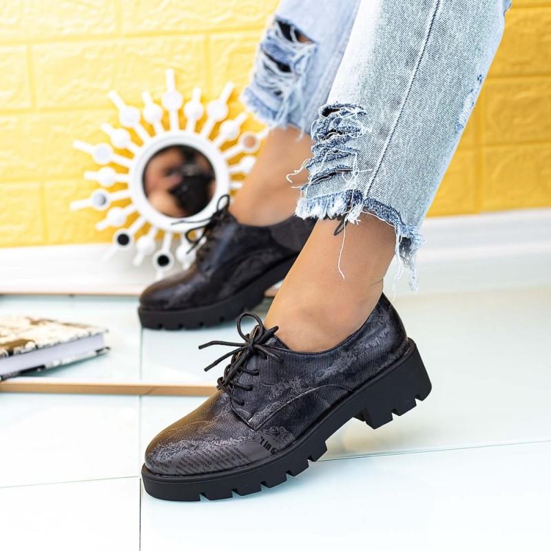 Pantofi Casual Dama DS30 Negru Mei