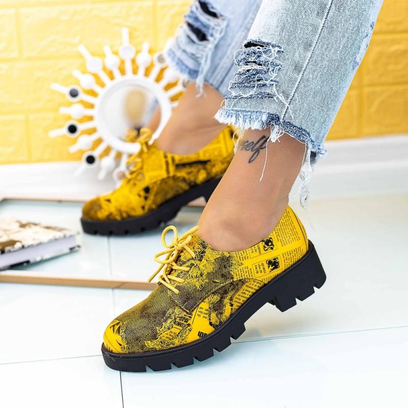 Pantofi Casual Dama DS30 Galben Mei