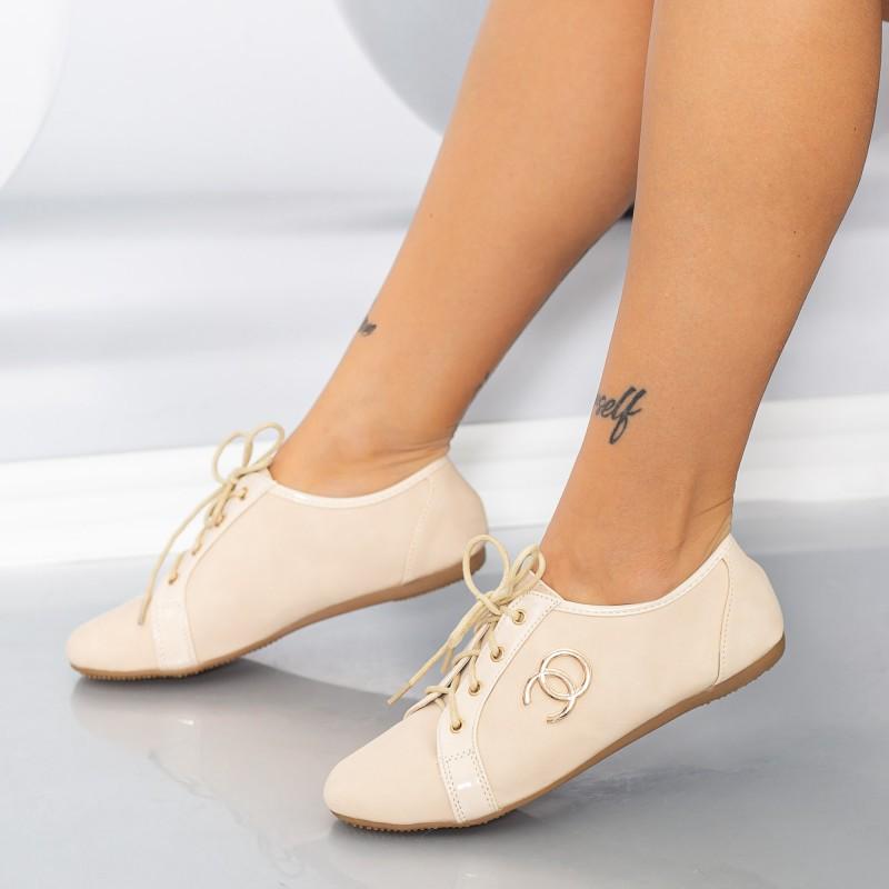 Pantofi Casual Dama 606-3 Bej Mei