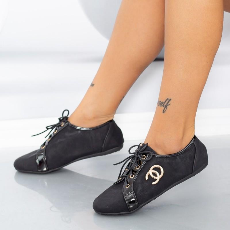 Pantofi Casual Dama 606-3 Negru Mei