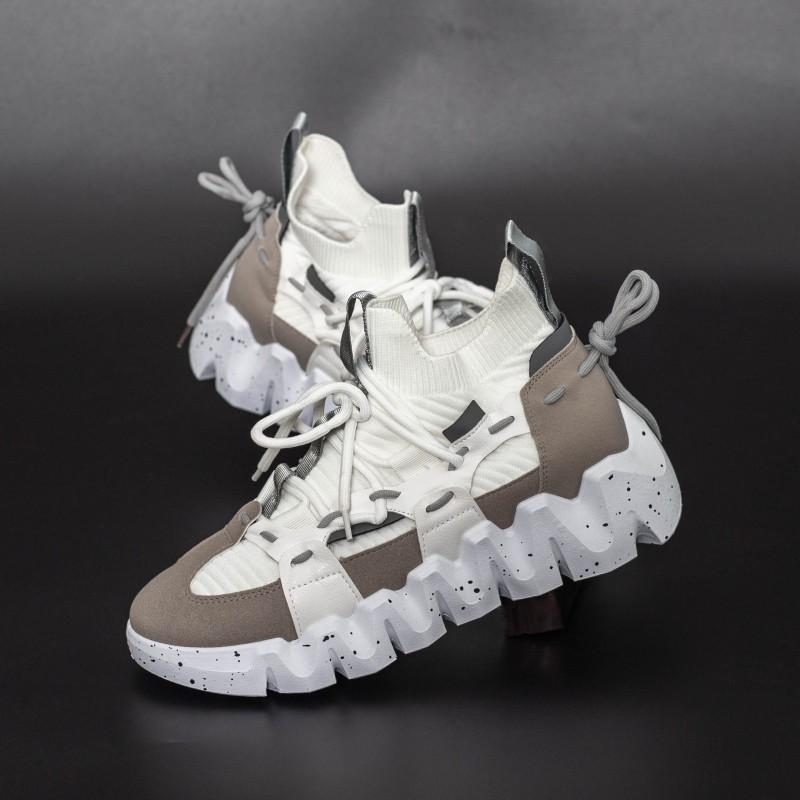 Pantofi Sport Barbati LGMB5 Alb-Gri Mei