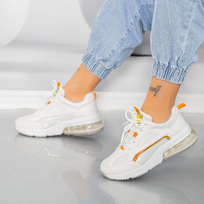 Pantofi Sport Dama X639 Alb Se7en