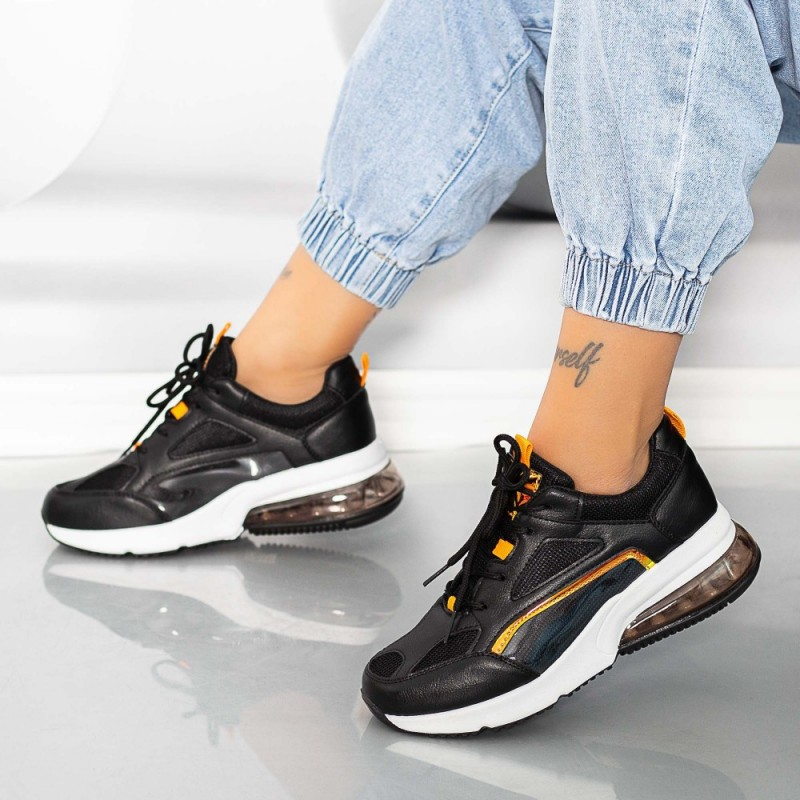 Pantofi Sport Dama X639 Negru Se7en