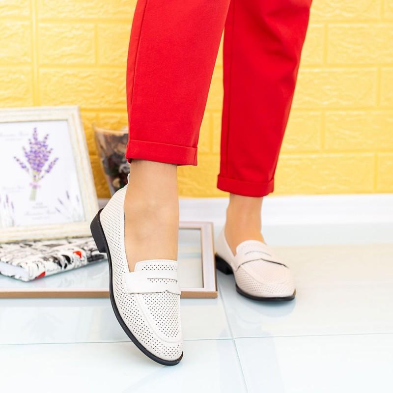 Pantofi Casual Dama XMT5 Crem Mei