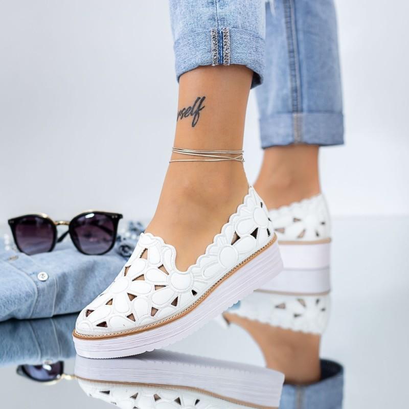 Pantofi Casual Dama DS25 Alb Mei