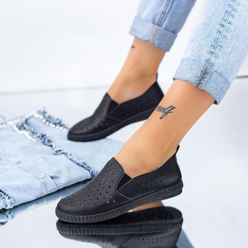 Pantofi Casual Dama JG21 Negru Mei