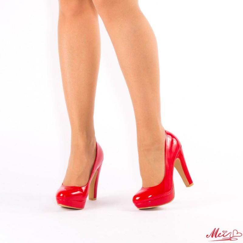 Pantofi cu Toc si Platforma XD26 Red Mei